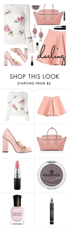 """Pink Fall"" by deborah-calton ❤ liked on Polyvore featuring Dondup, Marina Hoermanseder, Gucci, Bally, MAC Cosmetics, Chanel, Essence, Deborah Lippmann and L'Oréal Paris"