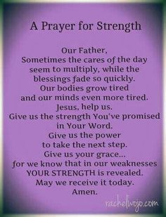 A Prayer for strength