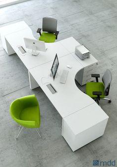 Vigo bench werkplek – Home Office Design Layout Corporate Office Design, Office Table Design, Office Space Design, Modern Office Design, Office Furniture Design, Office Interior Design, Office Interiors, Office Workspace, Office Decor