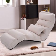 Giantex Folding Lazy Sofa Chair Stylish Sofa Couch Bed Lounge Chair W/Pillow Home Furniture Furniture, Lazy Sofa, Stylish Sofa, Chaise Lounge Chair, Double Chaise Lounge, Chaise Lounge, Chaise, Sofa Couch Bed, Leather Chaise Lounge