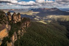 """The """"Blue Mountains"""" - A mountainous region in New South Wales, Australia. It borders on Sydney's metropolitan area. The name Blue Mountains, is derived from the blue tinge the range takes on when viewed from a distance. http://www.flickr.com/photos/zeniel http://www.facebook.com/TimGreyPhotography"""