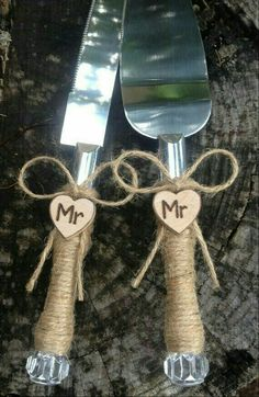 Mr & Mr cake knife and server