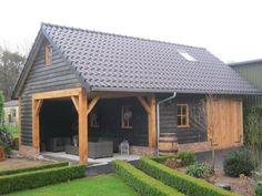 Shed Design, Garage Design, Timber Frame Garage, Garage Plans With Loft, Brook House, Carport Plans, Wooden Gazebo, Carport Designs, Pavilion Design