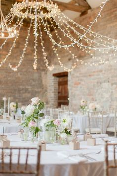 String lights, wedding inspiration, wedding decoration and wedding ideas. Wedding reception in a barn. Wedding Themes, Wedding Venues, Wedding Ideas, Wedding Inspiration, Pastel Wedding Theme, Wedding Gifts, Mauve Wedding, Wedding Locations, Wedding Designs
