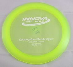 Champion Destroyer 172g Driver Innova Disc Golf Yellow Disc Golf Disc
