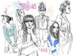 ilustracje na blogi Urbaniak ciuchy blogerki moda modowe ilustracje fashion illustration