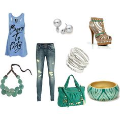 Teal Outfit, created by armybrat9110 on Polyvore