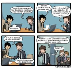 Entretien de codeur | CommitStrip - Blog relating the daily life of web agencies developers