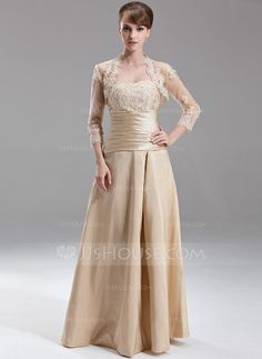 Bridesmaid Dresses - $126.99 - A-Line/Princess Sweetheart Floor-Length Taffeta Bridesmaid Dress With Ruffle Lace Beading (007002095) http://jjshouse.com/A-Line-Princess-Sweetheart-Floor-Length-Taffeta-Bridesmaid-Dress-With-Ruffle-Lace-Beading-007002095-g2095
