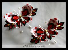 Polkadot Butterflies by Kurokami-Kanzashi on deviantART