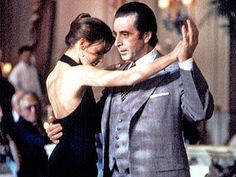 """I just love Gabrielle Anwar's dress and chignon in the """"tango scene"""" of Scent of a Woman."""