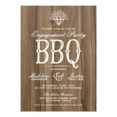 Rustic BBQ | Engagement Party Invitation