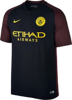 Manchester City Away Kit Manchester City, Football Kits, Football Soccer, Soccer Skills, Premier League, Nike, Sports, Mens Tops, T Shirt