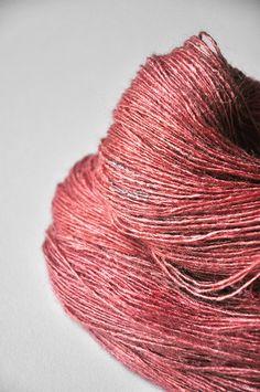 Faded pink dress OOAK - Tussah Silk Yarn Lace weight