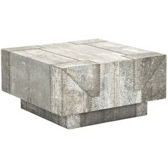 Patchwork Recycled Metal Coffee Table - Industrial Chic