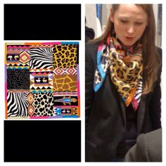 In love with this Frey Wille Scarf, seen at yesterday's InStyle event.   Adorei esse scarf que vimos ontem no evento da Frey Wille promovido pela InStyle.   #wishlist #trendy #animalprint #scarf #accessories #fashion #trends #ss14 #freywille #spiritofafrica #london #event #instyle #tribal