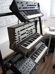 Yamaha CS5, EML 101, Roland SH-3