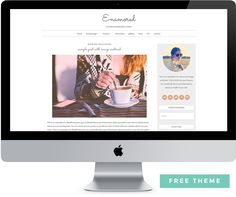 Get our Free Feminine WordPress Theme Enamored. This theme is perfect for bloggers who aren't ready to invest in a premium theme or custom blog design.