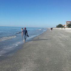 Walk along the Gulf, Fl