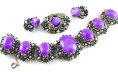Selro Demi Purple Swirl Lucite Cabs in Baroque by hipcricket, $110.00