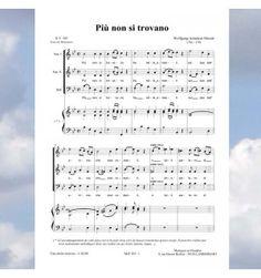 Wolgang-Amadeus MOZART- Piu non si trovano - Nocturnes à 3 voix mixtes (SAH) - Editions Musiques en Flandres - référence : MeF 305