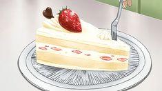 gif anime cake anime food thousand Infinite Stratos Cute Food, Yummy Food, Casa Anime, Anime Bento, Anime Cake, Anime Gifs, Food Cartoon, Think Food, Aesthetic Food
