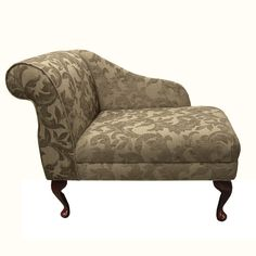 Small Chaise Longue Chair in A Floral Oatmeal Fabric REDUCED Price ...