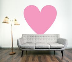 Show your walls some love with a {removable} heart-shaped wall decal from Urban Walls. $49