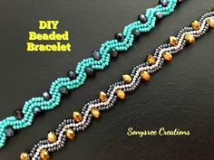 How to make beaded bracelet – DIY Beaded Bracelet. How to…Bicone Beaded Bracelet.How to make… Making Bracelets With Beads, Beaded Bracelets Tutorial, Beaded Bracelet Patterns, Bracelet Making, Beaded Necklace, Jewelry Making, Crochet Beaded Bracelets, Embroidery Bracelets, Beaded Jewelry