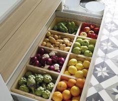 Las cajas combinables ayudan en la clasificación y almacenaje de frutas y hortalizas