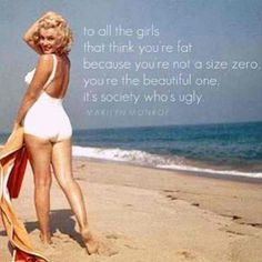 I love Marilyn Monroe. She was far from a size zero, and still is absolutely gorgeous!!  More Fashion at www.thedillonmall.com  Free Pinterest E-Book Be a Master Pinner  http://pinterestperfection.gr8.com/
