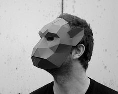 Bear Mask make your own from recycled card perfect par Wintercroft