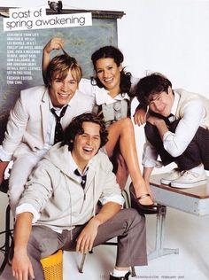 the cast of spring awakening back in 2007