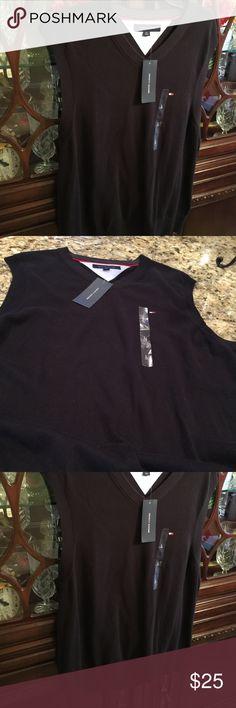 NWT Tommy Hilfiger Men's Sweater Vest Men's Size Large Navy Vest. Quality at its Best! Tommy Hilfiger Other