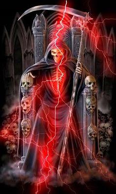 The reaper man. Death Reaper, Grim Reaper Art, Don't Fear The Reaper, Ghost Rider Wallpaper, Skull Wallpaper, Galaxy Wallpaper, Dark Fantasy Art, Dark Art, Skull Art