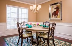 The dining room of the Albany floor plan by Ball Homes.