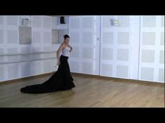 Técnica avanzada de bata de cola flamenca: Cogida #4 - YouTube