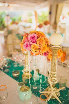 Orange&green wedding decor| Venue Kukua Punta Cana| Decor Begokua