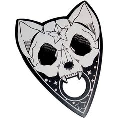 Wychwood Cat Skull Planchette. Planchette. Spirit Board. Ouija. ($11) ❤ liked on Polyvore featuring home, home decor and office accessories