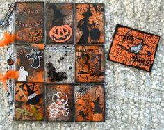 POCKET LETTERS D'HALLOWEEN Letter Tray, Letter D, Halloween Themes, Photo Halloween, Scrapbooking, Pocket Letters, Pocket Cards, Happy Mail, Deco Table