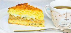 kokosowa-szarlotka-z-budyniem-przepis-1 Kiwi, Cornbread, Vanilla Cake, Sweets, Ethnic Recipes, Cook, Holidays, Spearmint Recipes, Millet Bread