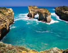 Great Ocean Road Victoria Australia  loch-ard gorge   Down the road is one of the best surfing beaches Bells Beach