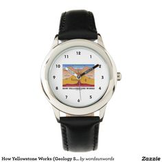 "How Yellowstone Works (Geology Supervolcano) Watch #howyellowstoneworks #yellowstone #geology #supervolcano #diagram #geek #geologist #earthscientist #volcano #humor #wordsandunwords Here's a watch featuring ""How Yellowstone Works"".  Great geological attitude gift for any Yellowstone fan!"