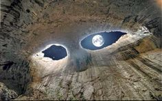 """Eyes of God - Prohodna Cave in Bulgaria - The Science World. Photo credit to """"Endless Knowledge"""" on Google"""