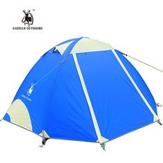 Gazelle Outdoors Professional Ultralight Waterproof Aluminum Pole Camping Hiking Backpacking Tent  2 Person 3 Season Blue * Find out more about the great product at the image link.