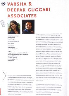 Again a hearty thanks to 'Varsha & Deepak Guggari Associates' for their kind mention in '50 Amazing Homes in India'.