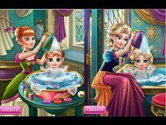 Frozen Elsa And Anna Baby's Wash - Disney Frozen Games