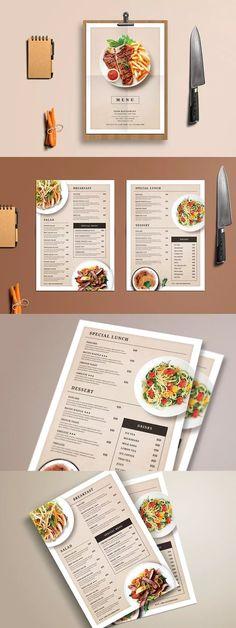 Modern Restaurant Food Menu Template PSD