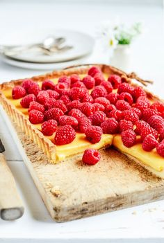 From The Kitchen: White Chocolate and Raspberry Tart
