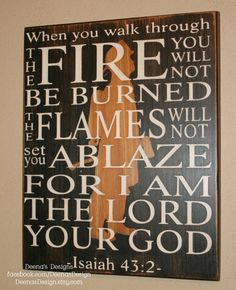 Isaiah 432 With Silhouette Firefighter Decor by DeenasDesign - https://www.facebook.com/DeenasDesign  - $36.00